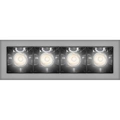Image du produit 1: SHARP RECESSED TRIM 4X 12W 927 FLOOD SILVER EXT.DRV + SCREEN 4X WHITE